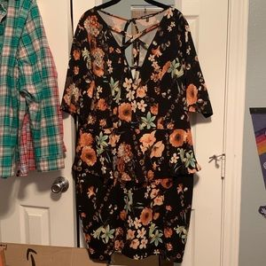 Charlotte Russe Plus Floral Peplum Dress size 3X